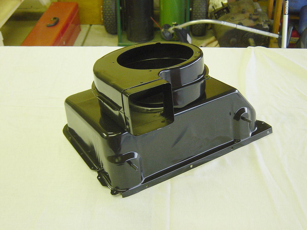 Heater Assembly 1964 Chevy Truck Controls Each Part Received 3 Coats Of Gloss Black Paint The Images Below Show Main Parts Following Painting